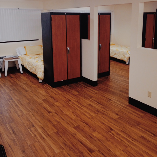 Inspirations features spacious, dorm-style living for program participants, complete with bedding and closet space.
